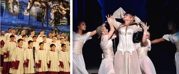 Sistine Chapel boys choir and Madonna singing at the Met Gala
