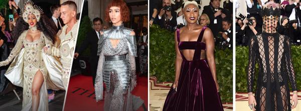 met gala celebrities dressed in mock religious attire