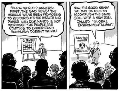 Environmentalism equal to Socialism