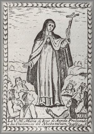 Mary Agreda preaching to Indians