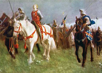 Joan of Arc captured by the English