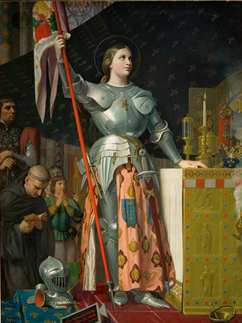 Joan of arc at the coronation in Reims
