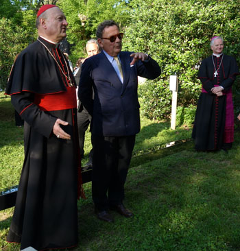 card Ravisi a the unveiling ceremony of the Vatican exhibit