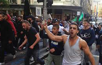 Muslim rally in Rome