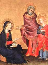 Returned to Nazareth, by Simone Martini