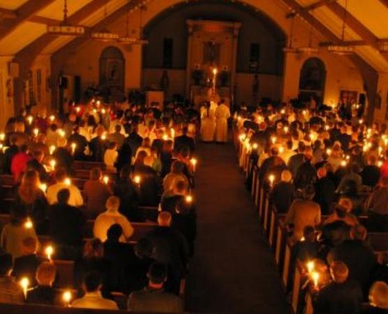 lighting pascal candle