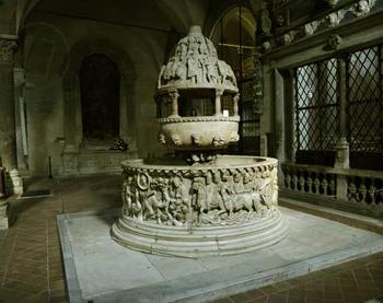 A Baptismal font from an ancient Church