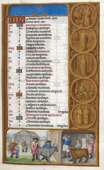 calendario de octubre santos