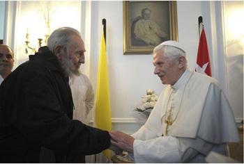 Benedict XVI supports Fidel Castro