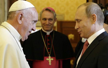 pope francis with putin