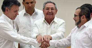 Colombia - FARC accord in Cuba