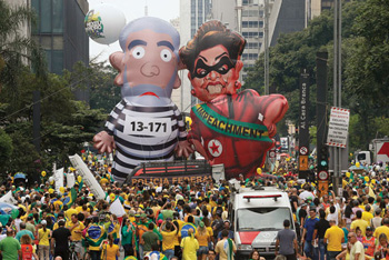 People demand DIlma's impeachment
