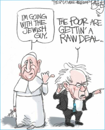 Sanders with Pope