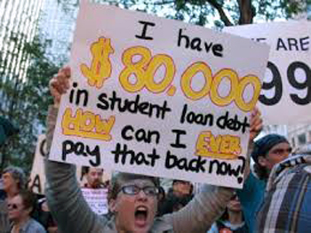 student debts protest