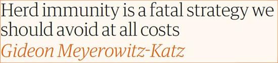 Gideon Meyerowitz-Katz o odporności stadnej