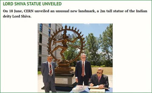 Posąg Śiwy w CERN