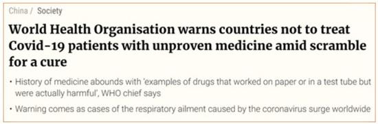 WHO o alternatywnych lekach
