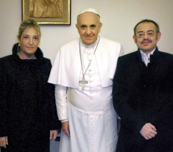 pope meets transgender