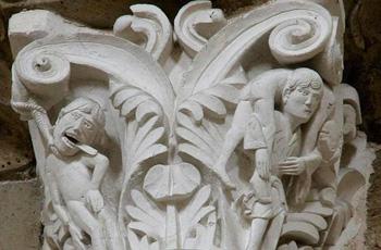 Judas column in St. Mary Magdalene Church, Vezelay