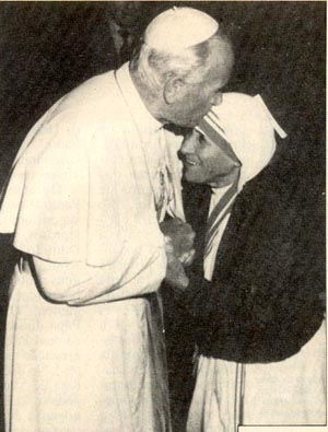 John Paul II & Mother Teresa