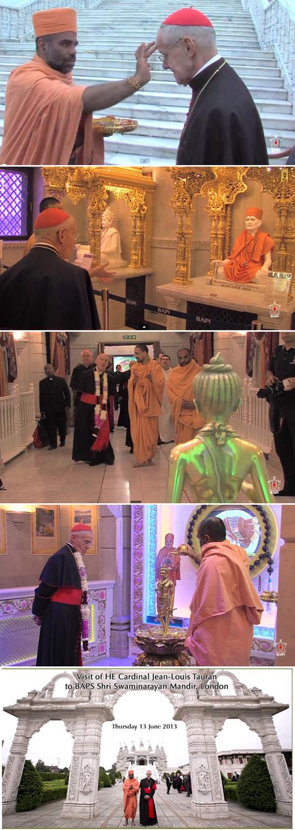 Cardinal Tauran in HIndu Temple in London 3