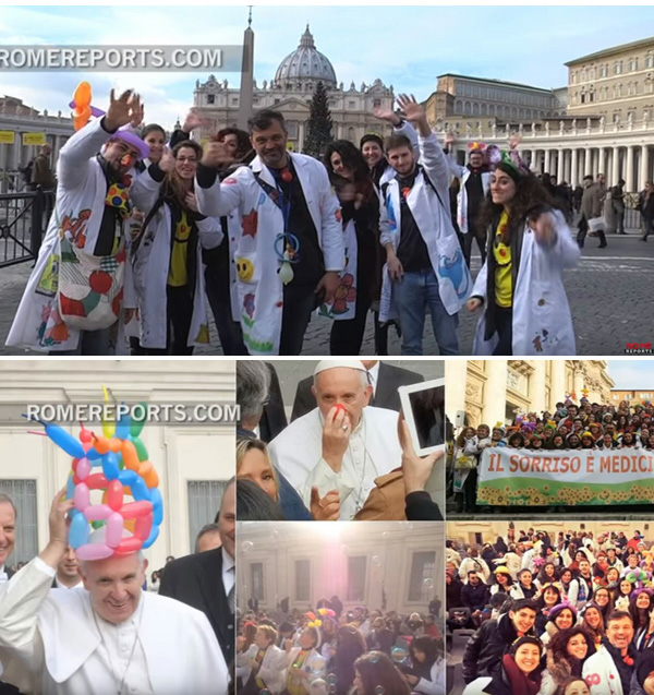 Pope Francis receive clowns of ANTAS