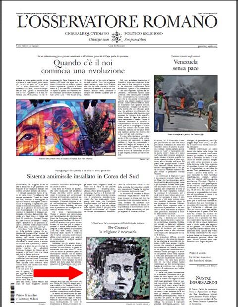 L'Osservatore Romano praises Gramsci -2