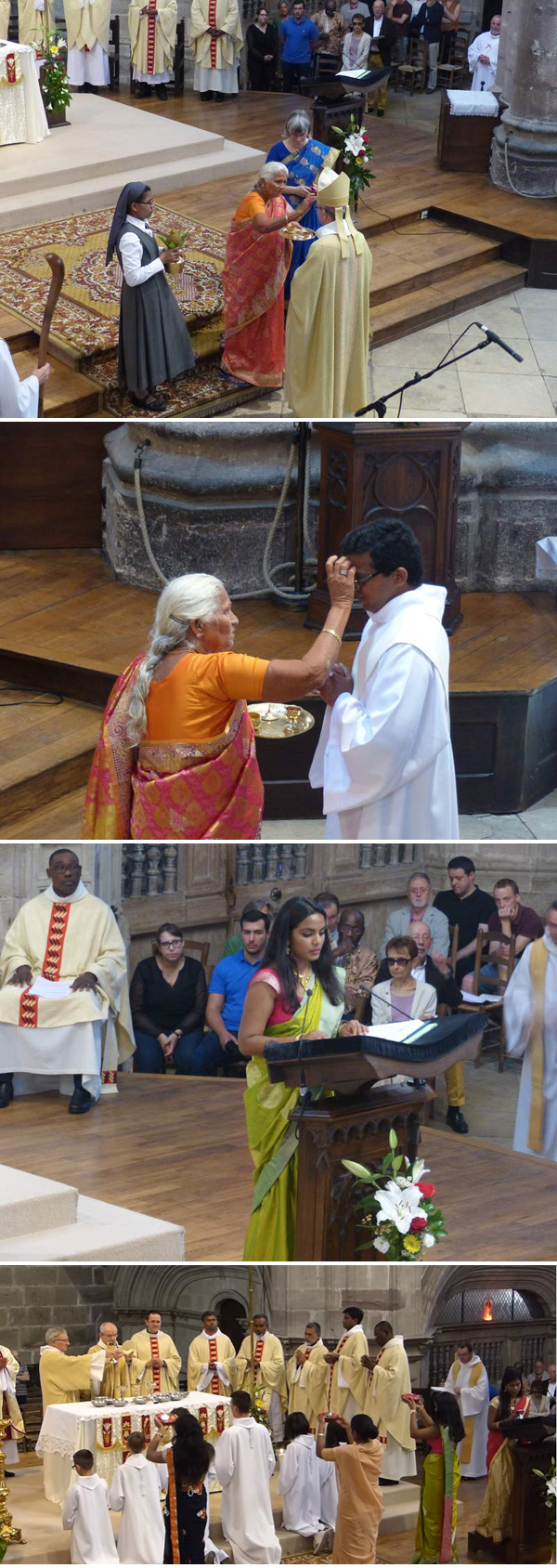 Hindu ritual at Rodez Cathedral 1