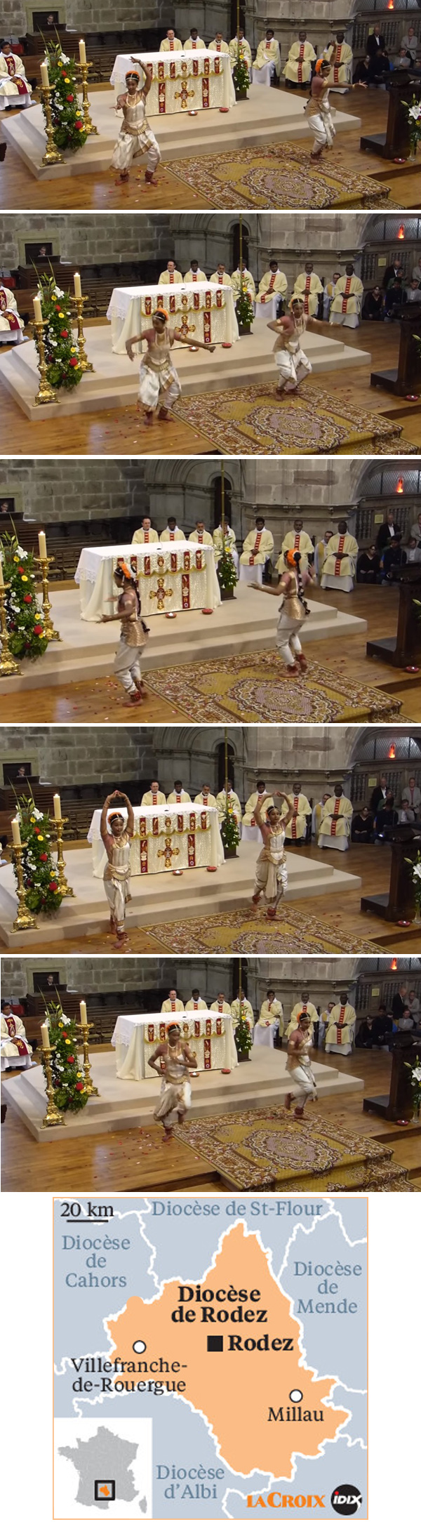 Hindu dances at Rodez Cathedral