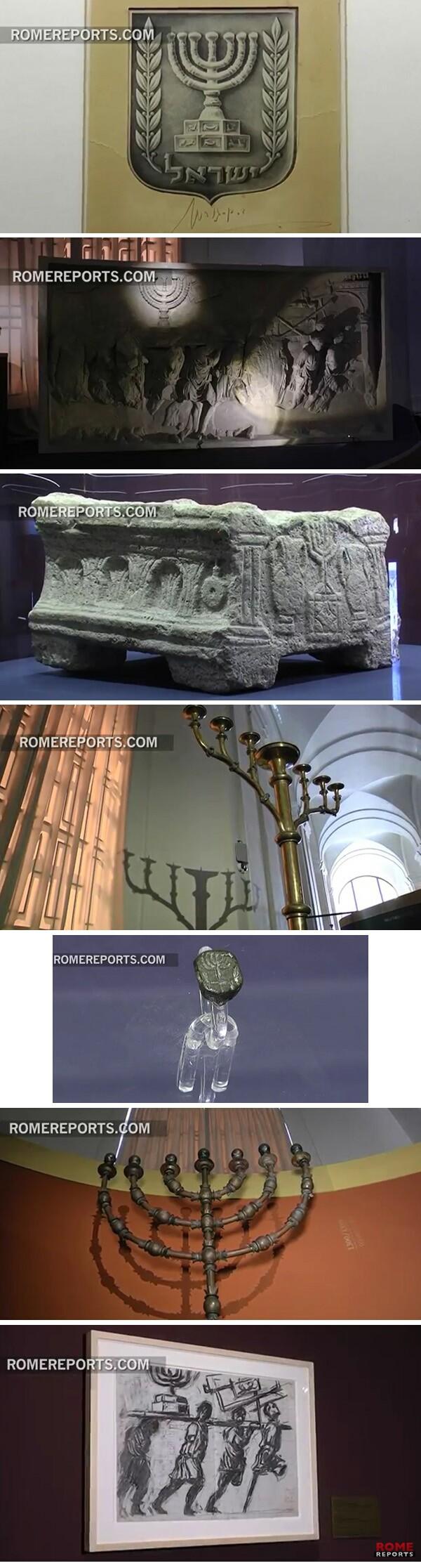 Menorah exhibit at Vatican 02