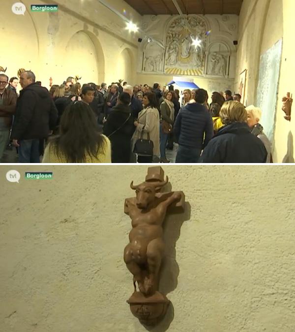 Demonic art in Belgian church 2