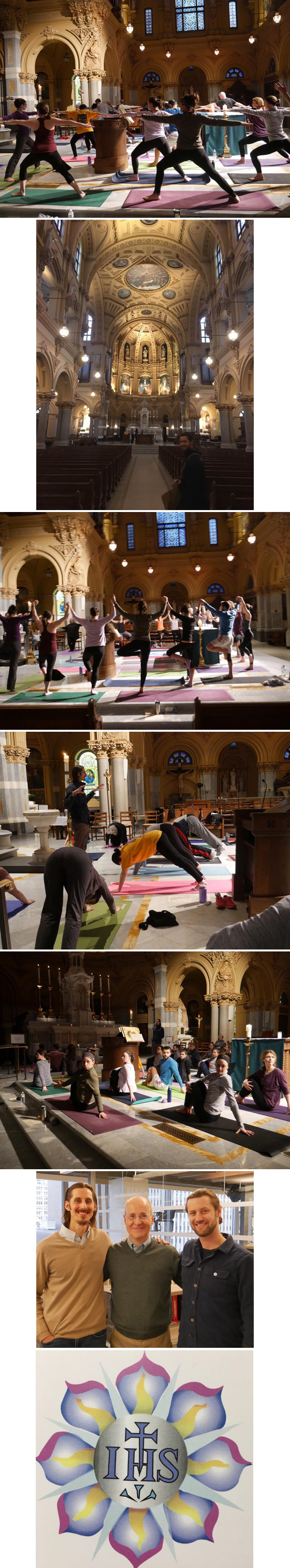 Photo compilation of Yoga in St. Francis Xavier Church