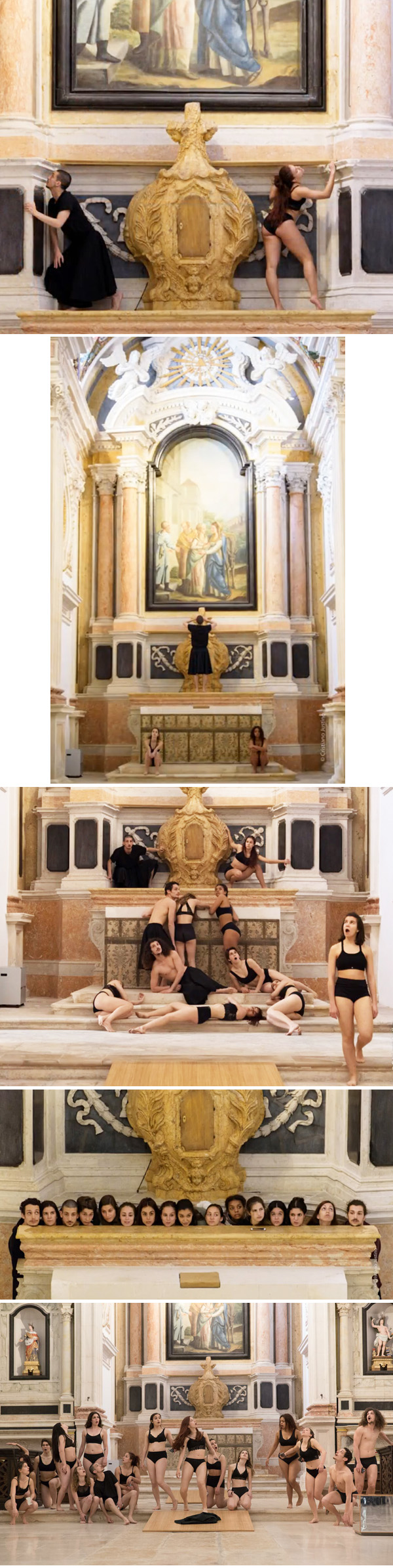 Photo montage of the almost naked Metadance in Leiria - 2