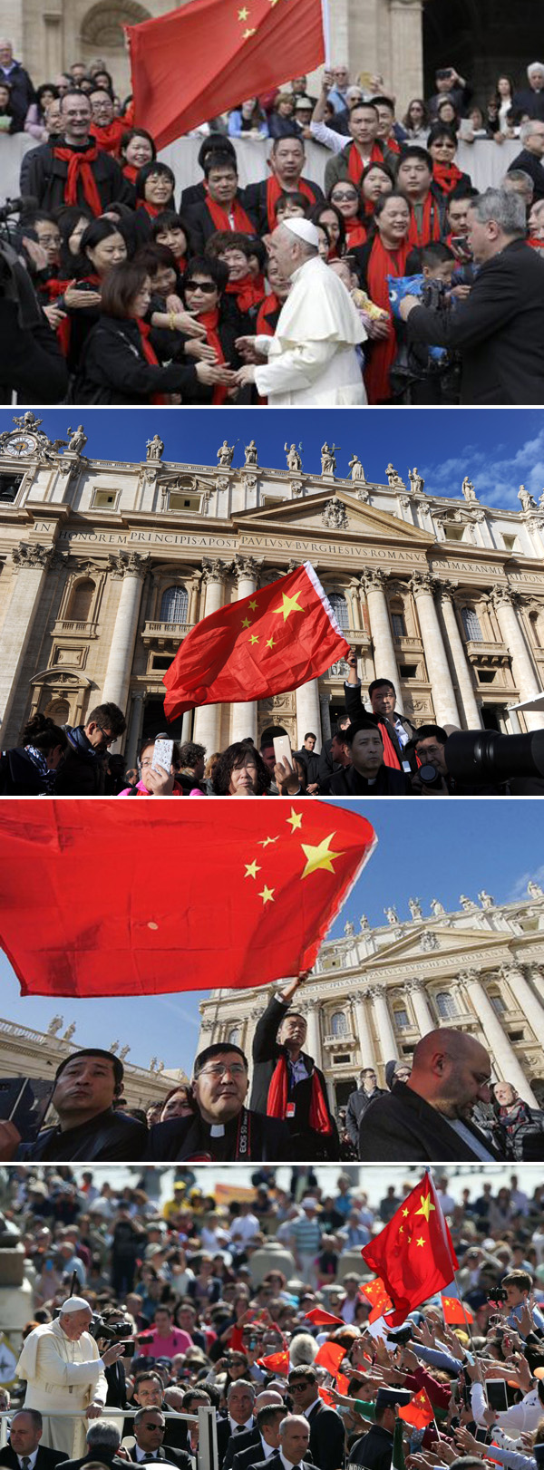 Chinese Communist Flag at the Vatican 2