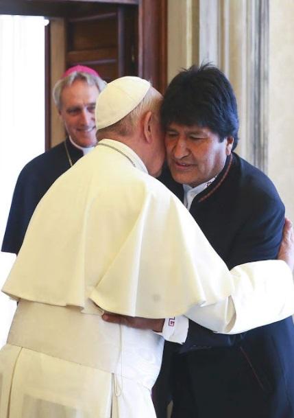 Papa Francisco con Evo Morales 1