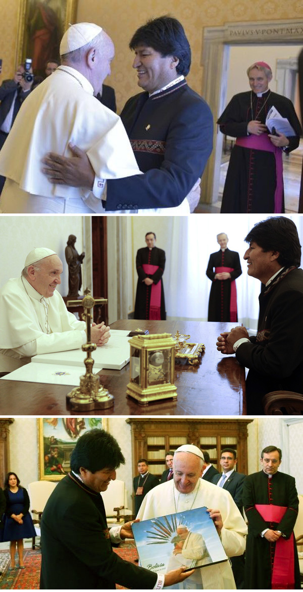 Pope Francis with Evo Morales 2