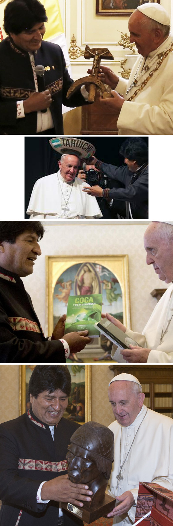 Pope Francis with Evo Morales 3