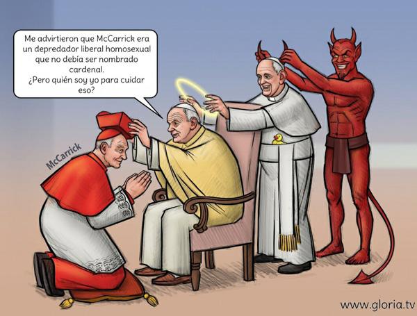 El cardenal McCarrick recibe el sombrero rojo de Juan Pablo II