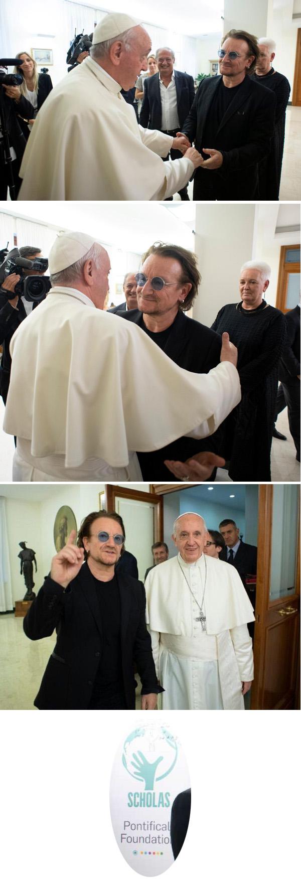 Pope recibe Bono