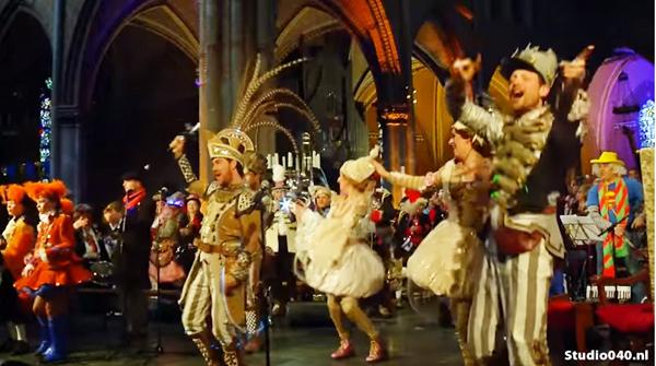 Carnaval en una iglesia católica Duthch 1