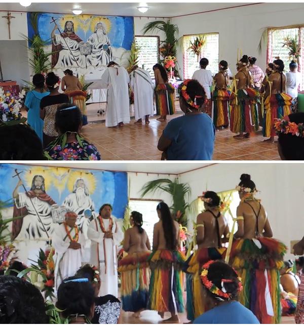 Mujeres en topless en la misa en micronesia 3