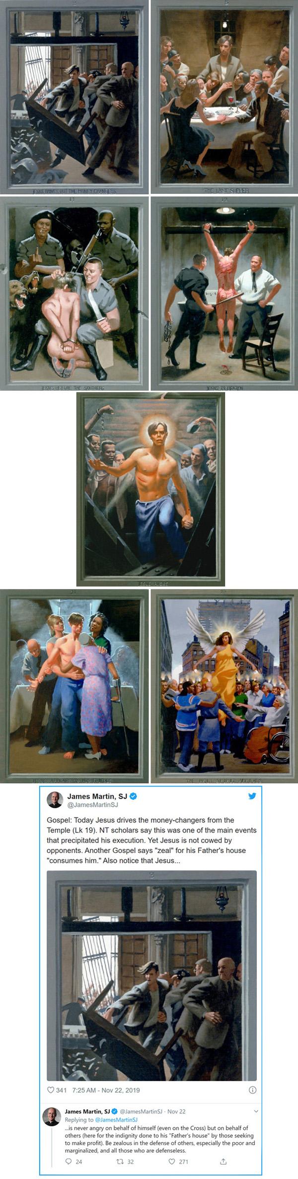 El p. James Martin promueve gay Jesús 2