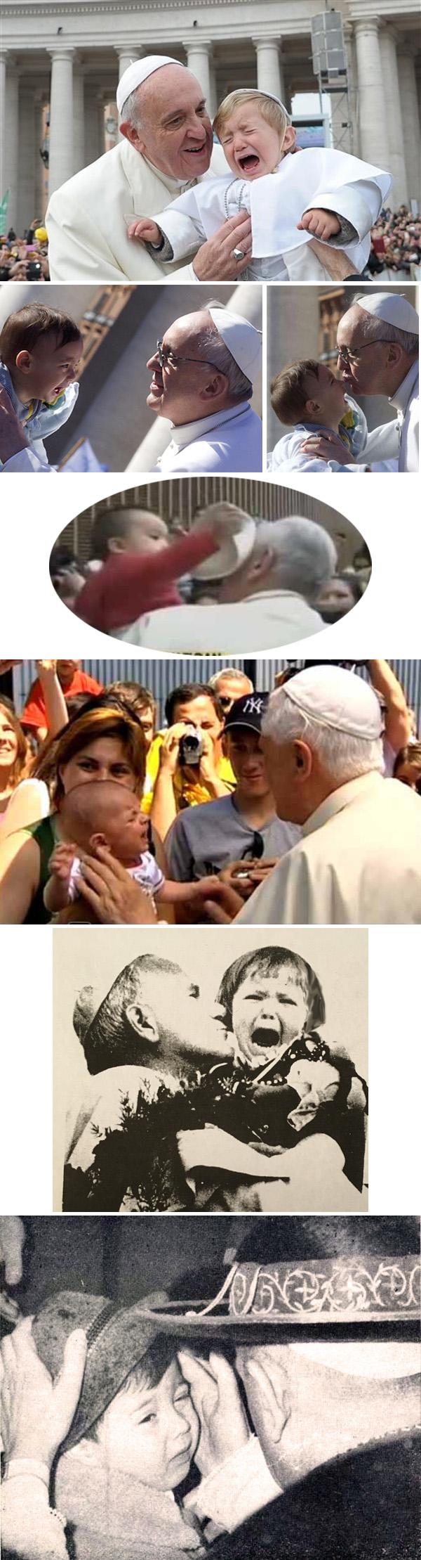 Niño rechazando papas conciliares