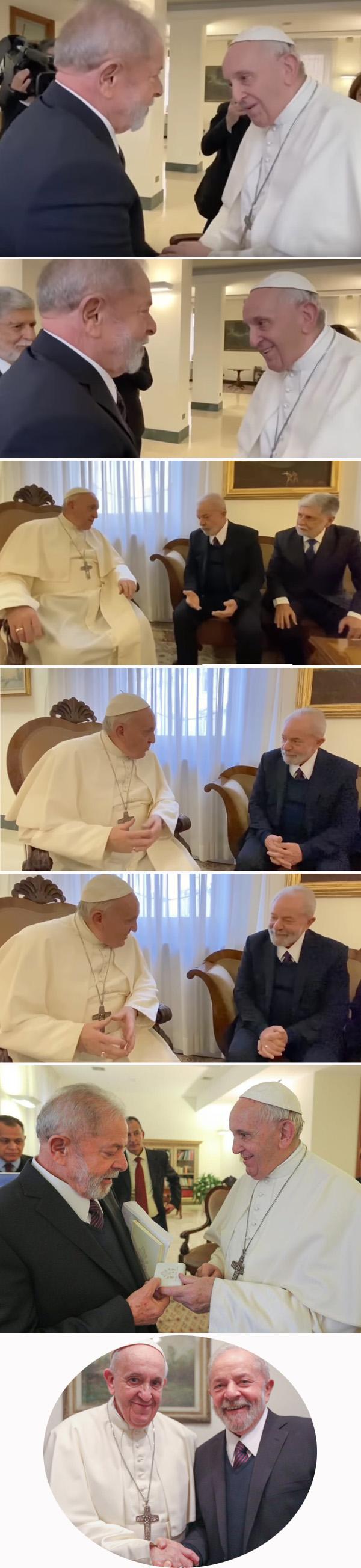 Lula recibida por el papa Francisco 2