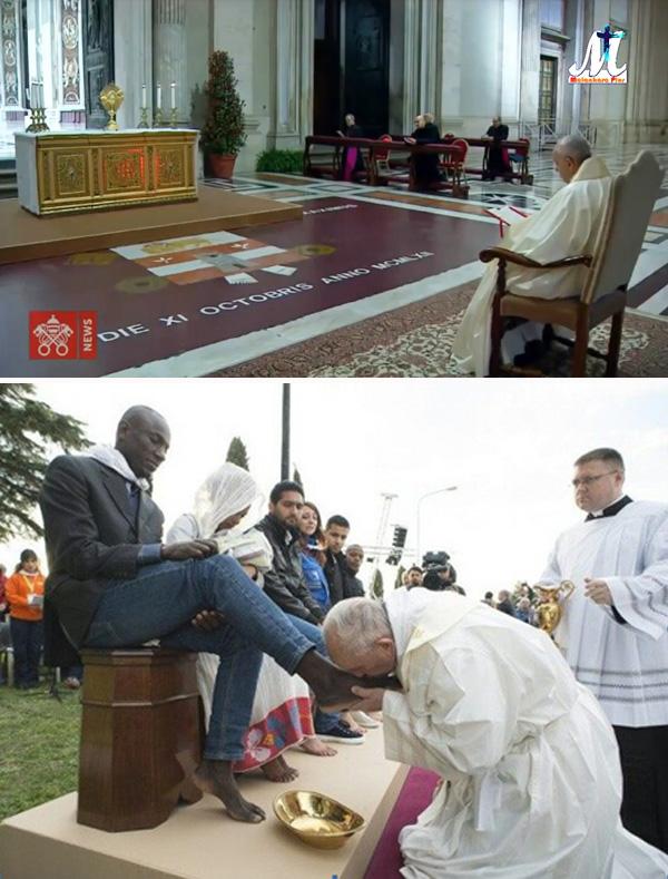 El Papa Francisco no se arrodilla ante el Santo Sacramento 1