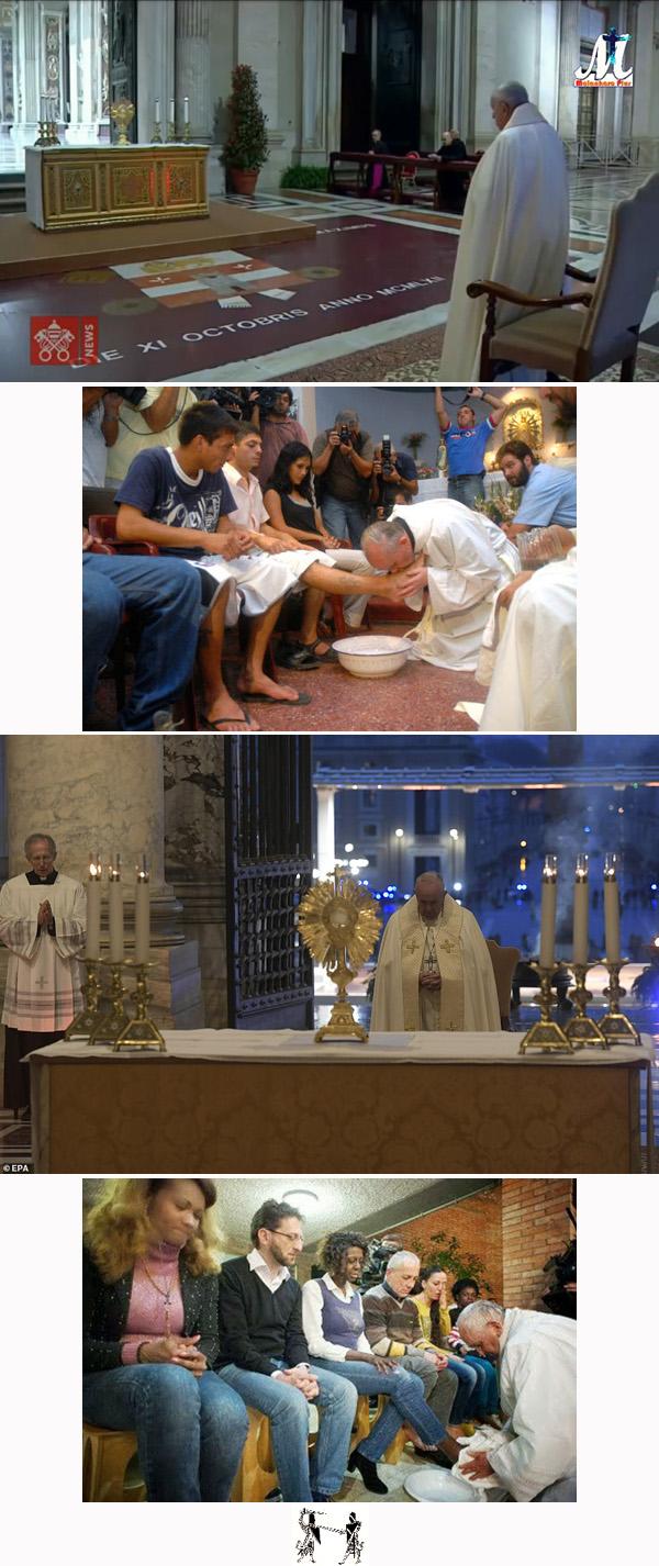 El papa Francisco no se arrodilla ante el Santo Sacramento 2