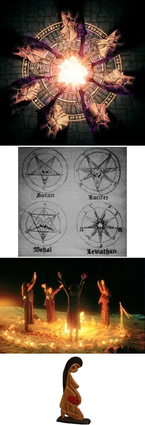 significado oculto de heptagrama y círculo