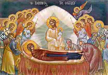 The dormition of Our Lady