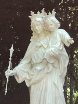 A statue of Our Lady Help of Christians