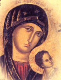 A detail from Our Lady of Perpetual Help